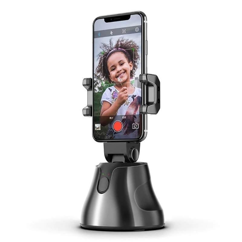 Suport telefon SIKS® pentru fotografiere inteligenta, automata, rotire 360 de grade, negru