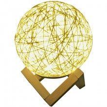 Lampa de veghe SIKS® cu abajur din ratan, lumina calda pentru atmosfera placuta