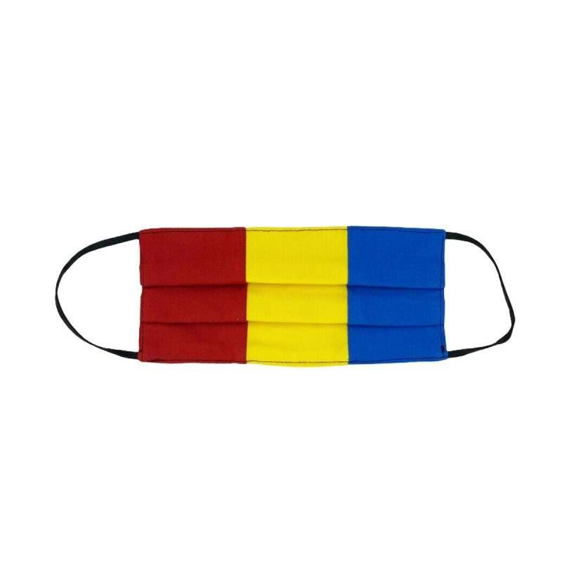 Masca tricolor SIKS® cu pliuri si elastic, reutilizabila, de protectie