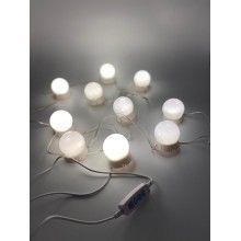 Set de 10 becuri LED pentru oglinda