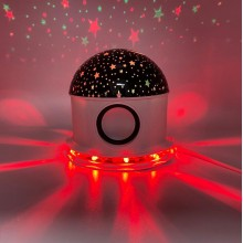 Lampa de veghe SIKS® proiector lumini, luna si stele, lampa muzicala, bluetooth