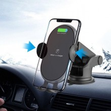 Suport telefon EDAR® pentru auto cu incarcare wireless, negru