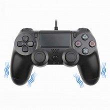Controler wireless EDAR® pentru consola, alimentare USB, fara fir, PS4, negru