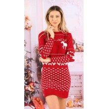 Rochie din tricot cu tematica de sarbatori