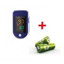 Pulsoximetru pentru deget cu display OLED pentru copii si adulti LK87 + 2 baterii incluse