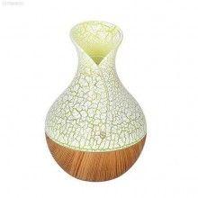 Difuzor aroma SIKS® umidificator, purificator aer, rezervor 130 ml, galben/lemn deschis