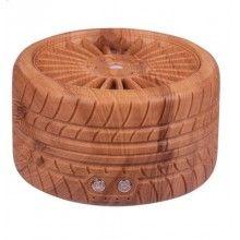 Umidificator SIKS® in forma de anvelopa, difuzor aroma, purificator aer, rezervor 300 ml, lemn deschis