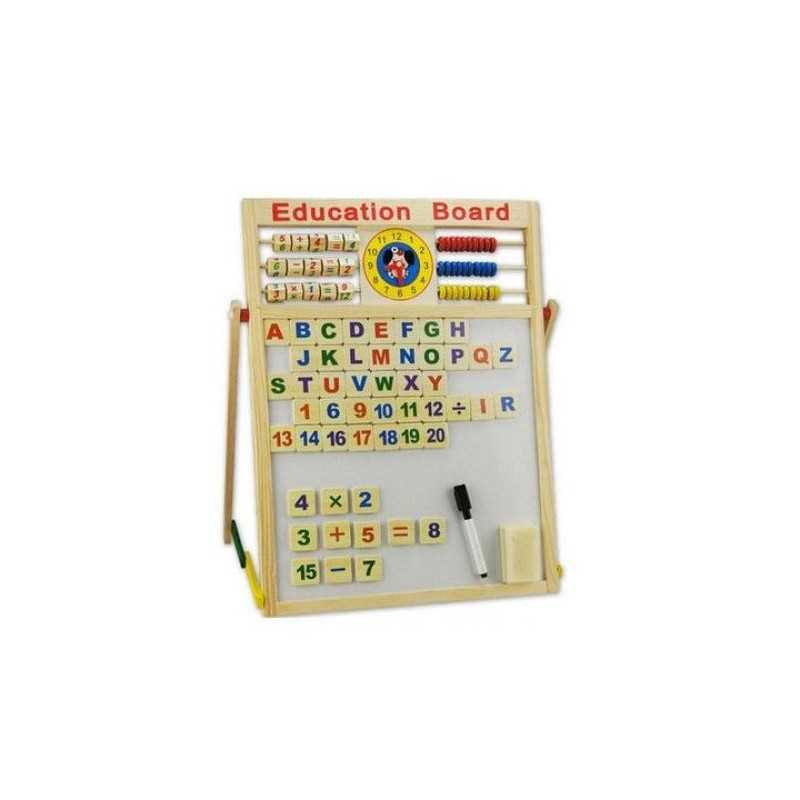 Tabla magnetica SIKS® 2in1, de scris cu doua fete si socotitoare, 63 cm x 47 cm