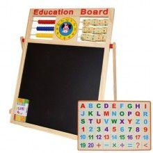 Tabla magnetica de scris cu doua fete si socotitoare 63 cm x 47 cm