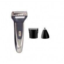 Aparat de tuns SIKS® pentru barba si nas, 3in1, 3 capete interschimbabile
