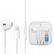 Casti earpods Edar® cu fir compatibile iphone, Lightning Alb