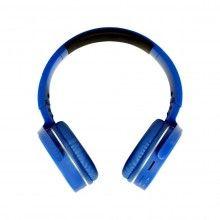 Casti wireless on-ear cu microfon incorporat, Radio FM, MP3, albastru