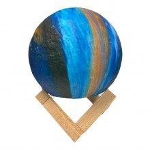 Lampa ambientala cu stand de lemn Galaxy