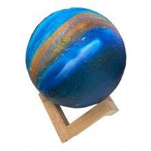 Lampa decorativa EDAR® model Galaxie cu stand de lemn, 13 cm