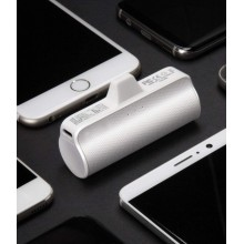 Baterie externa SIKS® cu 3 lumini led, 3300 mAh, pentru iPhone, lightning, alb