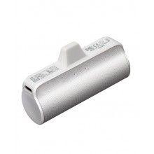 Baterie externa SIKS® cu 3 lumini led, 3300 mAh, pentru iPhone, alb