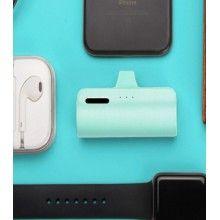 Baterie externa SIKS® cu 3 lumini led, 3300 mAh, pentru iPhone, turcoaz