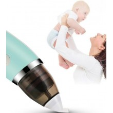 Aspirator electric SIKS® nazal pentru copii, inarcare USB, silentios, alb/turcoaz
