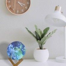 Lampa ambientala EDAR® cu model Terra, stand lemn, 13cm