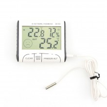 Termometru digital de camera cu higrometru, montare pe prete sau masa, alb