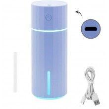 Umidificator cu aromaterapie, ideal pentru casa si masina, 200 ml, albastru
