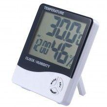 Termometru digital cu higrometru, ceas, alarma, prindere pe perete sau birou