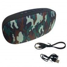 Boxa portabila EDAR® cu 2 difuzoare, microfon, bluetooth, TF slot, army