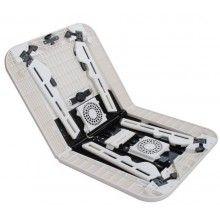 Masa laptop SIKS® 2 ventilatoare, suport pahar si mouse, multifunctionala, alb/negru