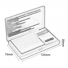 Cantar de bijuterii cu afisaj digital, maxim 200g x 0.01g, portabil, negru