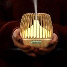 Difuzor pentru aromaterapie EDAR® cu functie de umidificare a aerului, lumini LED, 500ml, bej