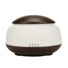 Umidificator EDAR® ultrasunete, difuzor aroma, design modern, 300 ml, silentios, maro inchis/alb
