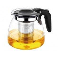 Ceainic EDAR® din sticla termorezistenta, filtru, infuzor, 1100 ml