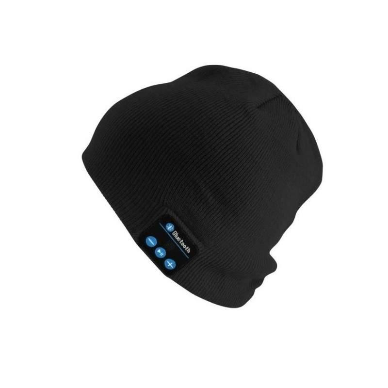 Caciula EDAR® cu casti si microfon intergrat, Bluetooth, tricot, negru