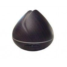 Umidificator cu ultrasunete, lumini led, 550 ml, lemn inchis