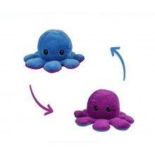 Caracatita reversibila EDAR® jucarie de plus doua culori, mov-albastru