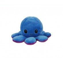 Caracatita reversibila, jucarie de plus doua culori, mov-albastru