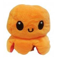 Caracatita reversibila, jucarie de plus doua culori, rosu-portocaliu