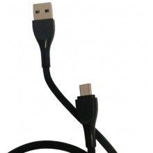 Cablu de date soft, micro USB pentru telefon/tableta, 1000mm, negru