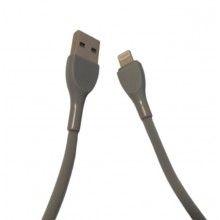 Cablu de date soft, lightning USB pentru telefon/tableta, 1000mm, gri