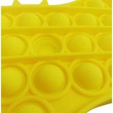 Jucarie antistres EDAR® senzoriala, din silicon, impermeabila, batman, galben
