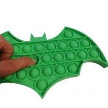 Jucarie antistres EDAR® senzoriala, din silicon, impermeabila, batman, verde