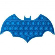 Jucarie senzoriala antistres din silicon, forma batman, albastru