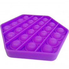 Jucarie antistres EDAR® senzoriala, din silicon, impermeabila, hexagon, mov