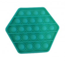 Jucarie antistres EDAR® senzoriala, din silicon, impermeabila, hexagon, verde
