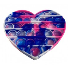 Jucarie antistres EDAR® senzoriala din silicon, impermeabila, forma inima, multicolor