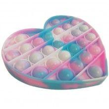 Jucarie antistres EDAR® senzoriala din silicon, pentru copii, impermeabila, forma inima, multicolor