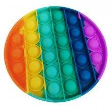 Jucarie antistres EDAR® senzoriala din silicon, pentru copii, impermeabila, forma rotunda, curcubeu