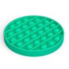 Jucarie antistres EDAR® senzoriala din silicon, pentru copii, impermeabila, forma rotunda, verde