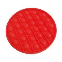 Jucarie antistres EDAR® senzoriala din silicon, pentru copii, impermeabila, forma rotunda, rosu