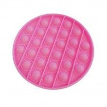 Jucarie antistres EDAR® senzoriala din silicon, pentru copii, impermeabila, forma rotunda, roz